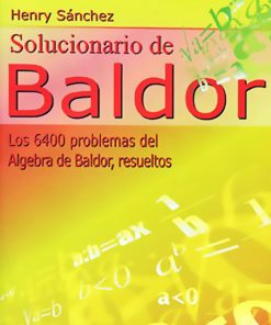Solucionario de Baldor